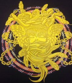 Crooks & Castles Medusa Pure Gold Graphic - Black T Shirt Size S/P 100% Cotton #CrooksCastles #GraphicTee