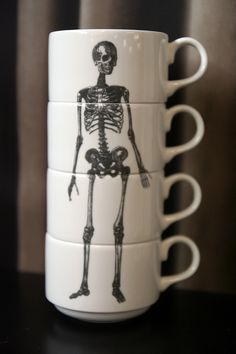 Stacking skeleton cups by Phoebe Richardson, £55, Rockett St George