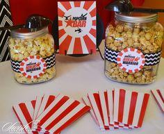 American NInja Warrior - Popcorn bar with printables
