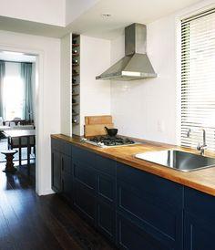 Une cuisine-couloir masculine