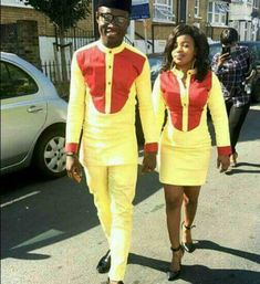 Couple wear/African style/Trendy african design by PageGermanyShop Couples African Outfits, African Clothing For Men, African Shirts, African Print Dresses, Couple Outfits, African Attire, African Wear, African Fashion Dresses, African Women
