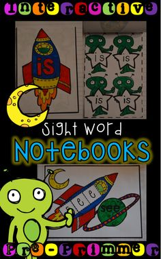 Interactive Sight  Word Notebooks just for kindergarten!
