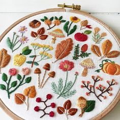 Forest florals stitching by @madoka_lilac #dmcthreads #dmcembroidery
