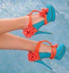 Orange Chiffon Heel Condoms at HighHeelJunkie. Suede Heels, Shoes Heels, Pumps, Stilettos, Cute Shoes, Me Too Shoes, Shoe Boots, Ankle Boots, Orange Heels
