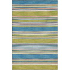 Flat-woven Blue Wool Area Rug (9' x 12') $265 overstock