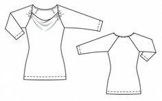 Пуловер Журнал: Burda 5 /2014 Выкройка №: 105 Коллекция: Актуальный дизайн