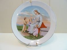 Collectible Plate, Praying with the Children, Made in Japan by BjsDoDads on Etsy