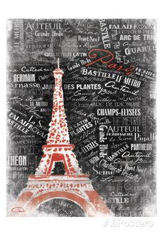 Eiffel Posters by OnRei at AllPosters.com