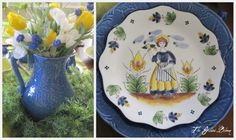 #2 French country table with the quimper-like plates <3