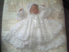 Ravelry: Daisy chain christening gown set by Karen Ashton-Mills