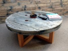 One-off Pieces Archives - IndustrialDesignNZ Wood Spool Tables, Cable Spool Tables, Cable Spools, Wire Table, Wood Shop Projects, Diy Pallet Projects, Pallette Furniture, Diy Furniture, Deck Bbq Ideas