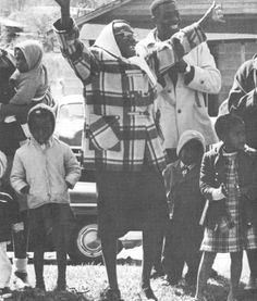 In honor of the tragedy that was Bloody Sunday:    Bystanders cheering the Selma to Montgomery March, 1965.