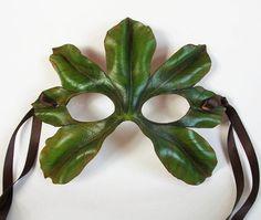 Chestnut Leaf Leather Mask