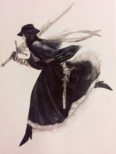 Nostalgia - Obsessed with black church attire recently. Dark Souls, Fantasy Character Design, Character Art, Blood Hunter, Bloodborne Art, Soul Game, Old Blood, Black Church, Gothic Horror