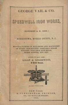 Speedwell Iron Works : manufacturers of mill-ir...