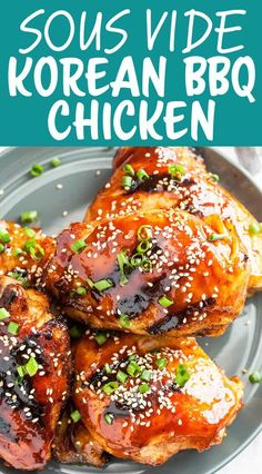 This Sous Vide Korean BBQ Chicken is the best of both worlds: sous vide means perfectly cooked chicken; grilling means crispy skin and char-grilled flavor. So good! (This #sponsored recipe is in partnership with ChefSteps) #sousvide #BBQchicken #grill #chicken #simplyrecipes
