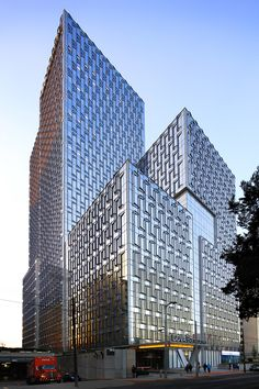 """Refreshing a Company's Culture Through DesignIn Mexico City, a new 130-meter office tower designed for BBVA reinforces the Spanish banking group's presence in Latin America. Conceived as a """"vertical city,"""" the tower accommodates the transformation of..."""