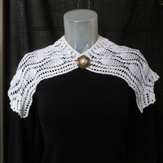 20s Vintage Crocheted Collar  Big Crocheted by LunaJunctionVintage