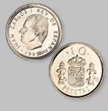 10 Pesetas de la Antigua Moneda Española - Money Made in Spain