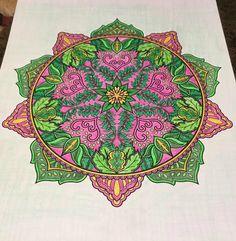 ColorIt Mandalas Volume 2 Colorist: Debbie Brown #adultcoloring #coloringforadults #mandalas #mandalastocolor