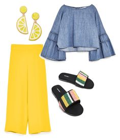 """yellow friday"" by aboutmetheblog on Polyvore featuring Celebrate Shop"