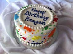Paint Splatter Cake by The Cake Chic, via Flickr