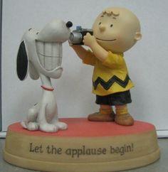 "Hallmark Peanuts Gallery ""Let the Applause Begin!"" Snoopy Figurine"