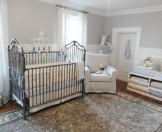A wrought iron crib is timeless and a great focal point to your little one's nursery. It can be combined with traditional or modern furnishings, it's all up to you and your taste.