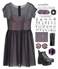 """""""""""There's a bad moon on the rise..."""""""" by ginaisanerd ❤ liked on Polyvore featuring Mulberry and Wildfox"""