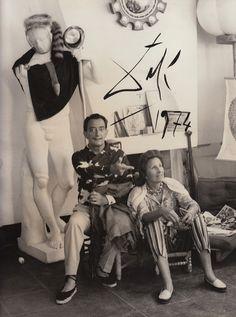Salvador Dali in the studio
