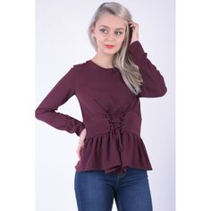 Bluza dama visiniu Ruffle Blouse, Adidas, Tops, Women, Fashion, Moda, Women's, Fashion Styles, Woman