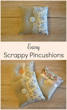 Anna from Tea and a Sewing Machine shows how you can sew these pretty pincushions. The patchwork lets you use some of your smaller fabric scraps and trims. The pincushion makes a pretty place to …