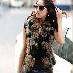 Women's Fashion Faux Fur Vest . Stylish isn't it?