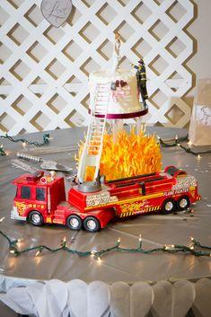 firefighter groom wedding cake topper