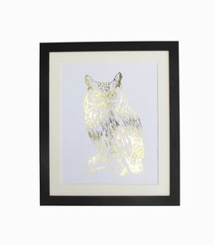 Wise Owl - Gold Foil or Silver Foil A4 Print