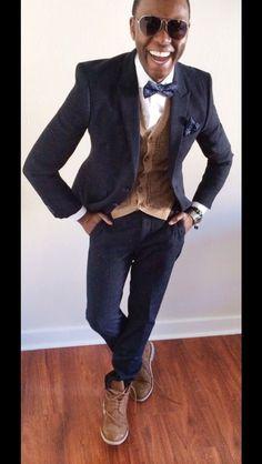 "-   ""To Your New Beloved""  -     Herringbone Suit - @Cameron Fredrickson  Dress Shirt - @J.Crew  Lambs Wool WaistCoat - @Ralph Lauren  Bow Tie - @James Richter  Skinny Suede Belt - @Calvin Klein  Pocket Square - @James Richter  Suede Desert Boots - @Zara Men  Watch - @Nixon_Now"