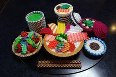 3D Seafood bowl set perler beads