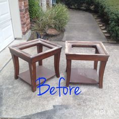 End Tables & Coffee Table Makeover