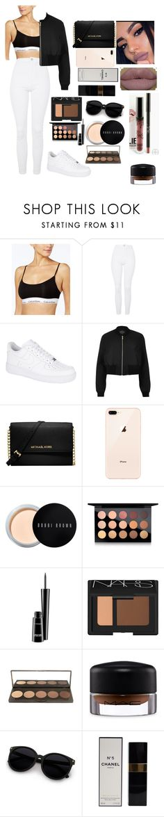 """Untitled #194"" by bumbuana on Polyvore featuring Calvin Klein, Topshop, NIKE, River Island, Michael Kors, Bobbi Brown Cosmetics, MAC Cosmetics, NARS Cosmetics and Chanel"