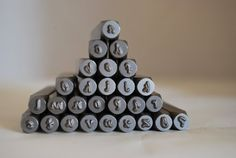 Lowest PRICE- 3 MM Lowercase Posh or Bridgette Font Alphabet Letter Stamp Set mm-Metal Stamps -Jewelry Stamping Supplies