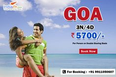 Best Holiday Packages for Goa - 3N/4D Package at just ₹5700‎/- PP  For booking visit : http://booking.indiafly.com/packages/domestic/goa/goa-package-5304