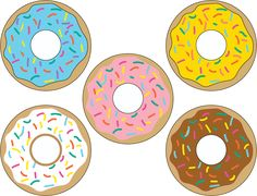Free donut printables from Mandy's Party Printables. See more at mandyspartyprintables.com!