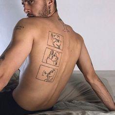 Boy Tattoos, Line Tattoos, Body Art Tattoos, Tattoos For Guys, Sleeve Tattoos, Cool Small Tattoos, Pretty Tattoos, Unique Tattoos, Small Chest Tattoos