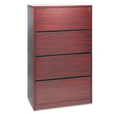 HON 10516NN 10500 Series 36 by 20 by 59-1/8-Inch 4-Drawer Lateral File, Mahogany
