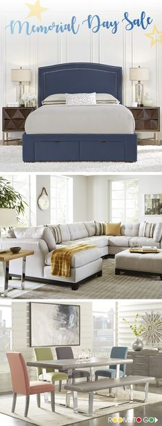 Visit Rooms To Go today, and save on beautiful collections of bedrooms, living rooms and dining rooms during our Memorial Day Sale Event!