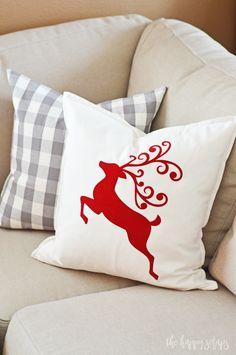 DIY Christmas Throw Pillows - The Happy Scraps