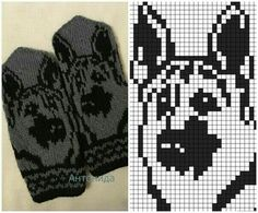Best Picture For handstulpen stricken zopfmuster For Your Taste You are looking for something, and i Double Knitting Patterns, Knitted Mittens Pattern, Animal Knitting Patterns, Knit Mittens, Knitting Charts, Knitted Gloves, Loom Patterns, Baby Knitting, Cross Stitch Patterns