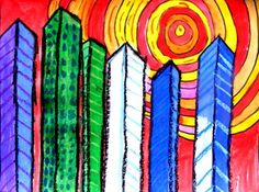 Warm & Cool Color Cityscapes