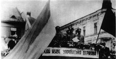 Bandera and Stetsko proclaiming an independent Ukraine in 1941