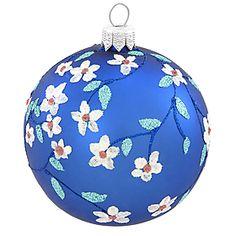 Flower Vine Royal Blue Ornament - 1149945 - $7.99